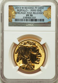 Modern Bullion Coins, 2013-W $50 One-Ounce Gold Buffalo, Reverse Proof, Chicago ANA, PR70 NGC. NGC Census: (954). PCGS Population: (465). ...