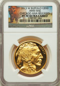 Modern Bullion Coins, 2013-W $50 One-Ounce Gold Buffalo PR70 Ultra Cameo NGC. NGC Census: (1119). PCGS Population: (206). Mintage 18,594. ...