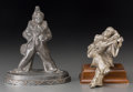 Decorative Arts, Continental, Two Art Deco Pewter Pierrot Figures, 20th century. 5-7/8 incheshigh (14.9 cm) (taller). ... (Total: 2 Items)