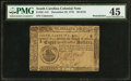 Colonial Notes:South Carolina, South Carolina December 23, 1776 $8 PMG Choice Extremely Fine 45.....