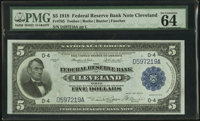 Fr. 785 $5 1918 Federal Reserve Bank Note PMG Choice Uncirculated 64 EPQ
