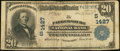 National Bank Notes:West Virginia, Parkersburg, WV - $20 1902 Plain Back Fr. 650 The Parkersburg NBCh. # (S)1427. ...