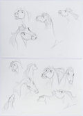 animation art:Model Sheet, Spirit: Stallion of the Cimarron Model Sheet Original ArtGroup of 2 (DreamWorks, 2002).... (Total: 2 Original Art)