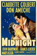 "Movie Posters:Comedy, Midnight (Paramount, 1939). One Sheet (27"" X 41"").. ..."