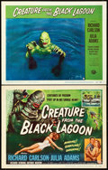 "Movie Posters:Horror, Creature from the Black Lagoon (Universal International, 1954).Title Lobby Card & Lobby Card (11"" X 14"").. ... (Total: 2Items)"