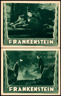 """Movie Posters:Horror, Frankenstein (Universal, R-1938). Lobby Cards (2) (11"""" X 14"""").. ...(Total: 2 Items)"""