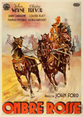"Movie Posters:Western, Stagecoach (United Artists, 1939). Italian 4 - Fogli (55"" X 78"")....."