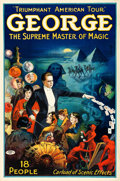 "Movie Posters, George --The Supreme Master of Magic (Otis Litho, Mid 1920s).Poster (26.5"" X 40.25"").. ..."