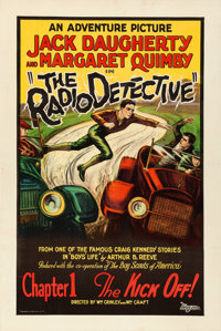 """The Radio Detective (Adventure Pictures, 1926). One Sheet (27.5"""" X 41"""") Chapter One -- """"The Kick Off!&quo..."""