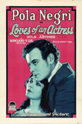 "Movie Posters:Romance, Loves of an Actress (Paramount, 1928). One Sheet (27"" X 41"") StyleA.. ..."
