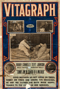"""Vitagraph - Sonny Jim in Search of a Mother (Vitagraph, 1914). One Sheet (26.5"""" X 39.5"""")"""