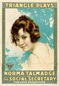 "Movie Posters:Comedy, The Social Secretary (Triangle, 1916). One Sheet (28"" X 41"").. ..."