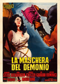"Movie Posters:Horror, Black Sunday (Unidis, 1960). Italian 2 - Fogli (39"" X 55"") GiulianoNistri Artwork.. ..."