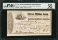 Confederate Notes:Group Lots, Ball 284 Cr. 139 $100 1864 Stock Certificate Interest Form PMGAbout Uncirculated 55.. ...
