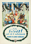 "Movie Posters:Animation, Snow White and the Seven Dwarfs (RKO, R-1940s). Swedish One Sheet (27"" X 39"").. ..."