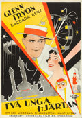 "Movie Posters:Romance, Lonesome (Universal, 1928). Swedish One Sheet (27.5"" X 39.5"").. ..."