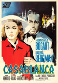 "Movie Posters:Academy Award Winners, Casablanca (United Artists, R-1962). Italian 4 - Fogli (54.5"" X 77.25"") Silvano ""Nano"" Campeggi Artwork.. ..."