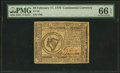 Colonial Notes:Continental Congress Issues, Continental Currency February 17, 1776 $8 PMG Gem Uncirculated 66EPQ.. ...