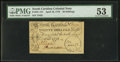 Colonial Notes:South Carolina, South Carolina April 10, 1778 20s PMG About Uncirculated 53.. ...