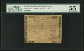 Colonial Notes:South Carolina, South Carolina October 19, 1776 $10 PMG About Uncirculated 55.. ...