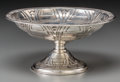 Silver Holloware, American:Bowls, An Alvin Weighted Sterling Silver Compote with Art Deco Motif,Providence, Rhode Island, circa 1940. Marks: ALVIN,STERLI...