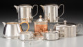 Silver Holloware, Continental, Seven Assembled Silver-Plated Coffee and Tea Items, 20th century.3-7/8 inches high (9.8 cm) (tallest). ... (Total: 7 Items)