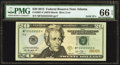 Solid Serial Number MF55555555H Fr. 2097-F $20 2013 Federal Reserve Note. PMG Gem Uncirculated 66 EPQ