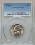 Jefferson Nickels, (3)1946-S 5C MS66 PCGS. PCGS Population: 551 in 66 (6 in 66+), 7 finer (2/17).... (Total: 3 coins)