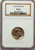 Proof Buffalo Nickels, 1913 5C Type Two PR67 NGC. NGC Census: (34/5). PCGS Population: (57/7). Mintage 1,514. ...