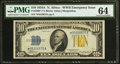 Small Size:World War II Emergency Notes, Fr. 2309* $10 1934A North Africa Silver Certificate. PMG Choice Uncirculated 64.. ...