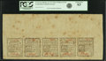 Colonial Notes:Connecticut, Connecticut October 11, 1777 Uncut Double Pane Sheet of 2 Pence-3 Pence-4 Pence-5 Pence-7 Pence Fr. CT-214-218. PCGS Choice Ne...