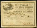 Confederate Notes:Group Lots, Ball 366 Cr. 154 $1000 1864 Six Per Cent Non Taxable CertificateExtremely Fine.. ...