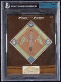 Autographs:Sports Cards, 1914 B18 Ty Cobb Blanket with Cut Signature. ...