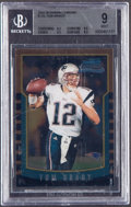 Football Cards:Singles (1970-Now), 2000 Bowman Chrome Tom Brady #236 BGS Mint 9....