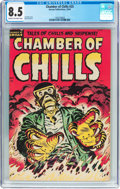 Golden Age (1938-1955):Horror, Chamber of Chills #25 (Harvey, 1954) CGC VF+ 8.5 Cream to off-whitepages....