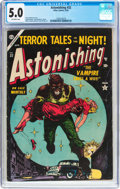 Golden Age (1938-1955):Horror, Astonishing #32 (Atlas, 1954) CGC VG/FN 5.0 Off-white pages....