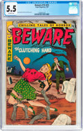 Golden Age (1938-1955):Horror, Beware #14 (#2) (Trojan/Prime, 1953) CGC FN- 5.5 Off-whitepages....