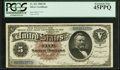 Large Size:Silver Certificates, Fr. 263 $5 1886 Silver Certificate PCGS Extremely Fine 45PPQ.. ...