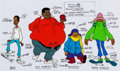 Animation Art:Color Model, Fat Albert and the Cosby Kids Color Model Cel Group of 2(Filmation, 1972).... (Total: 2 )