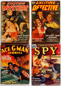 Pulps:Detective, Assorted Detective Pulps Group of 6 (Various, 1940-50) Condition: Average GD/VG.... (Total: 6 Items)