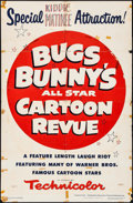 "Movie Posters:Animation, Bugs Bunny's All Star Cartoon Revue & Other Lot (Warner Brothers, 1953). One Sheets (2) (27"" X 41""). Animation.. ... (Total: 2 Items)"