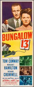 "Movie Posters:Mystery, Bungalow 13 (20th Century Fox, 1948). Insert (14"" X 36""). Mystery.. ..."