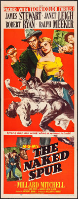 """The Naked Spur (MGM, 1953). Insert (14"""" X 36""""). Western"""