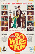 "Movie Posters:Comedy, 30 Years of Fun (20th Century Fox, 1963). One Sheet (27"" X 41""). Comedy.. ..."