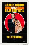 "Movie Posters:James Bond, James Bond Film Festival - Thunderball (United Artists, R-1975).International One Sheet (27"" X 41"") Style B. James Bond.. ..."
