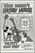 "Movie Posters:Animation, Mickey's Good Deed (Buena Vista, R-1974). One Sheet (27"" X 41""). Animation.. ..."