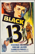 "Movie Posters:Crime, Black 13 (20th Century Fox, 1954). One Sheet (27"" X 41""). Crime....."