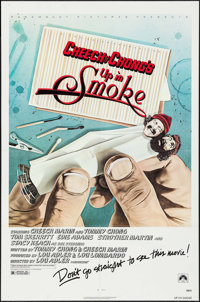 "Up in Smoke (Paramount, 1978). One Sheet (27"" X 41"") ""Don't Go Straight"" Style. Comedy"