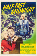 "Movie Posters:Crime, Half Past Midnight (20th Century Fox, 1948). One Sheet (27"" X 41""). Crime.. ..."
