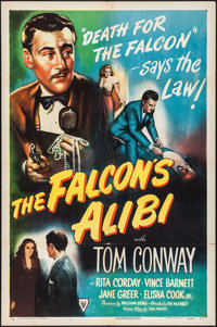 "The Falcon's Alibi (RKO, 1945). One Sheet (27"" X 41""). Mystery"